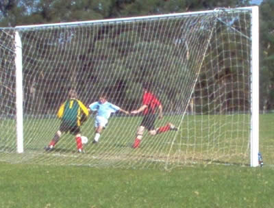 Ben puts one into the back of the net