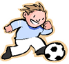 player with football
